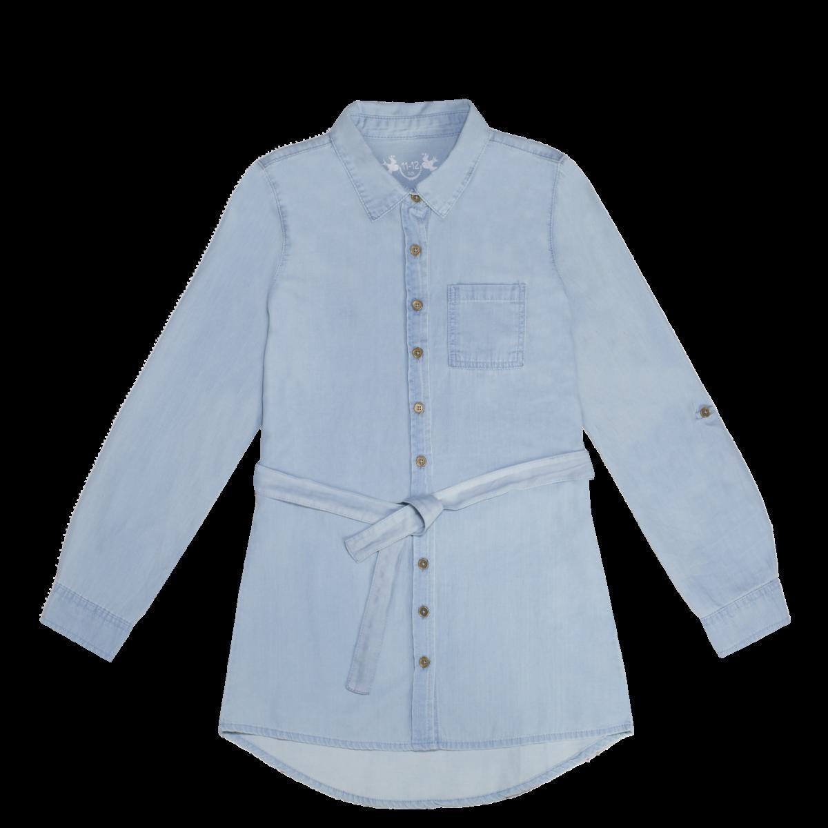 Dekliška bluza, svetlo modra