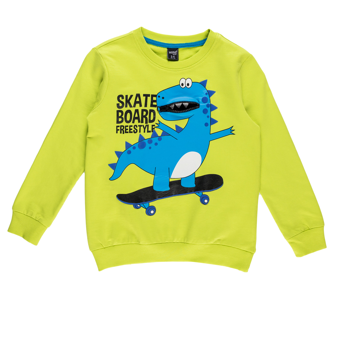 Fantovski pulover, svetlo zelena