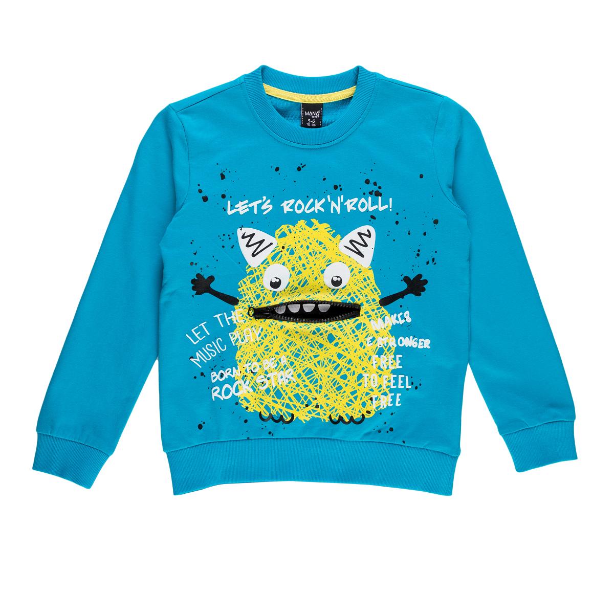Fantovski pulover, turkiz