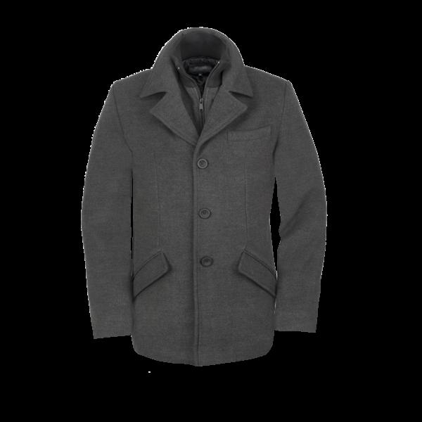 Moška jakna, temno melange siva