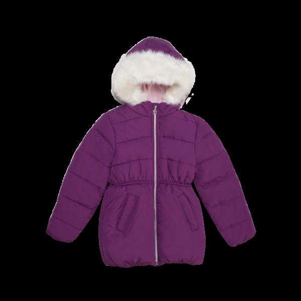 Dekliška bunda, temno roza