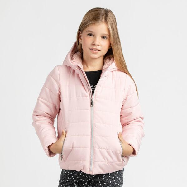 Dekliška bunda, svetlo roza