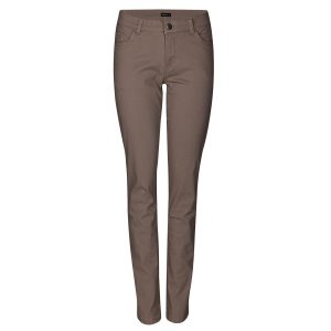 Ženske hlače, svetlo rjava