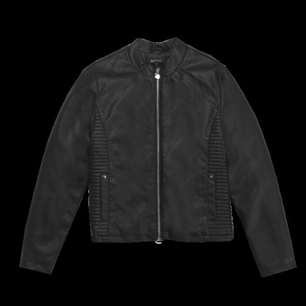 Dekliška jakna, črna