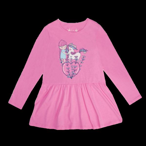 Dekliška tunika, roza