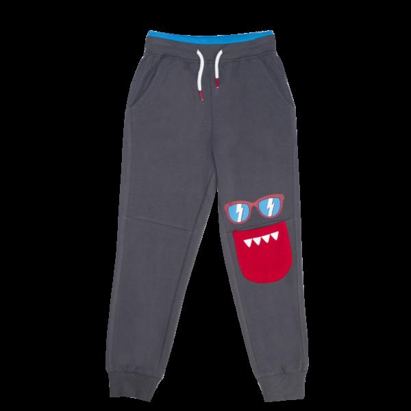 Fantovske hlače, temno siva
