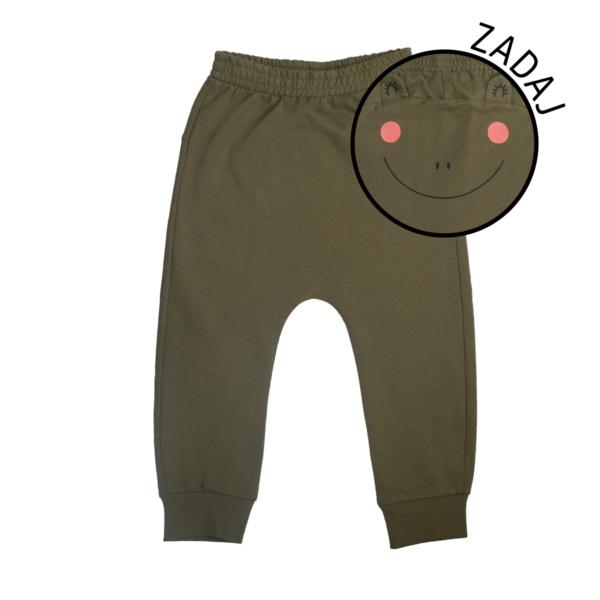 Baby hlače, temno olivna