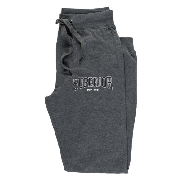 Moške hlače, temno melange siva