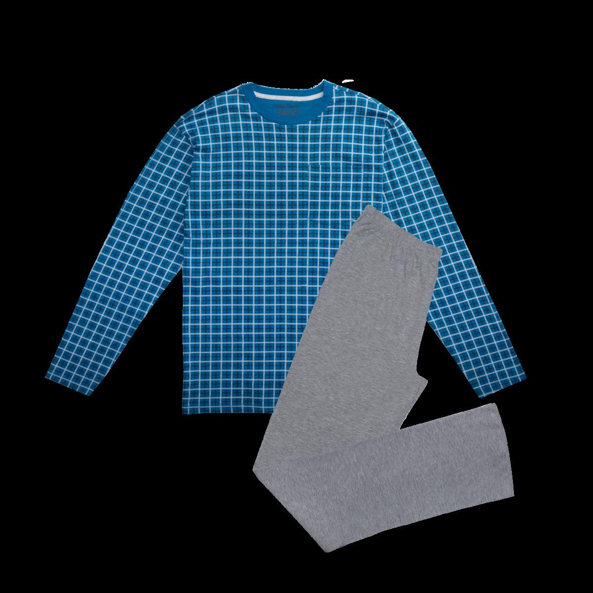 Moška pižama, melange siva