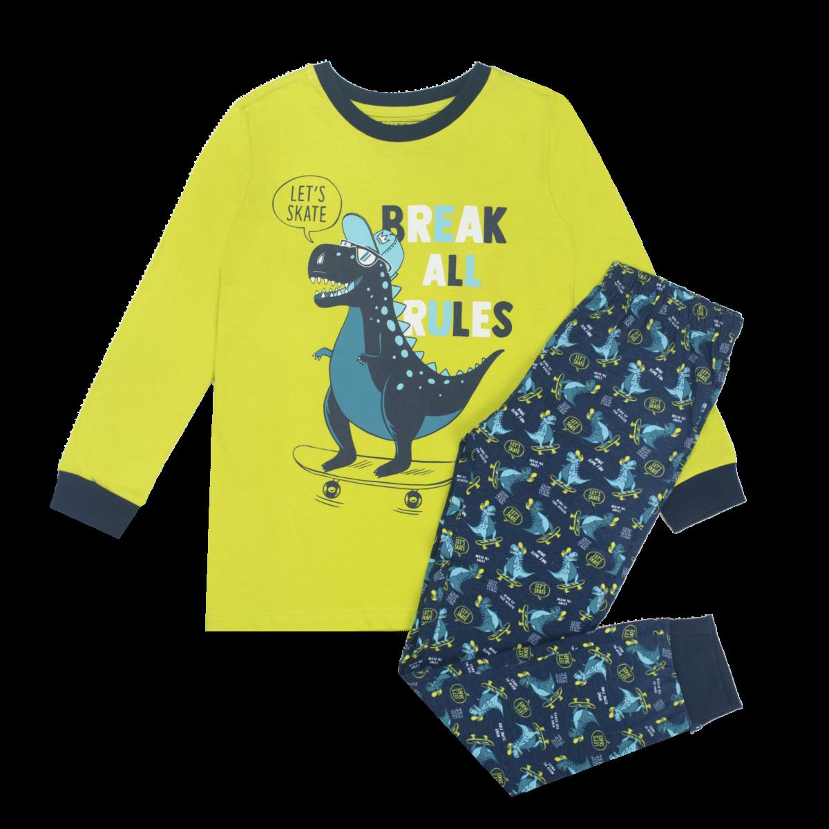 Fantovska pižama, svetlo zelena