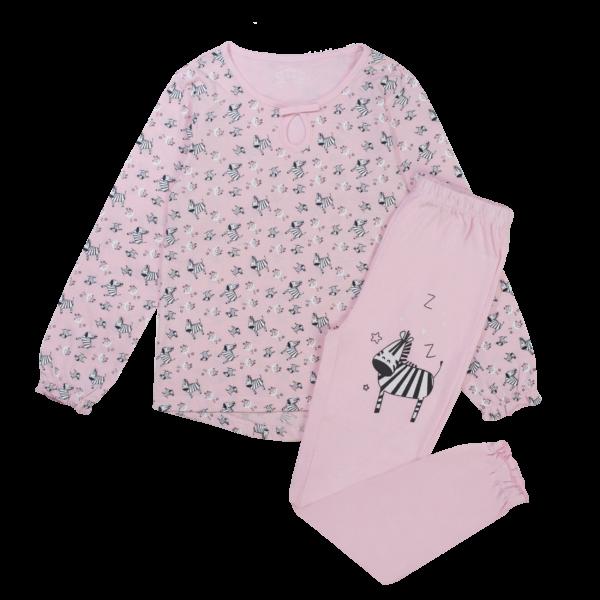 Dekliška pižama, roza