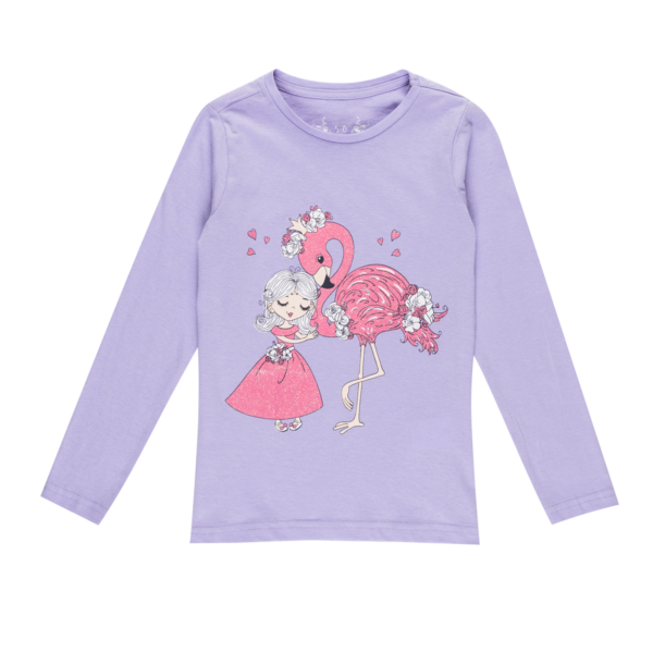 Dekliška majica, svetlo vijolična