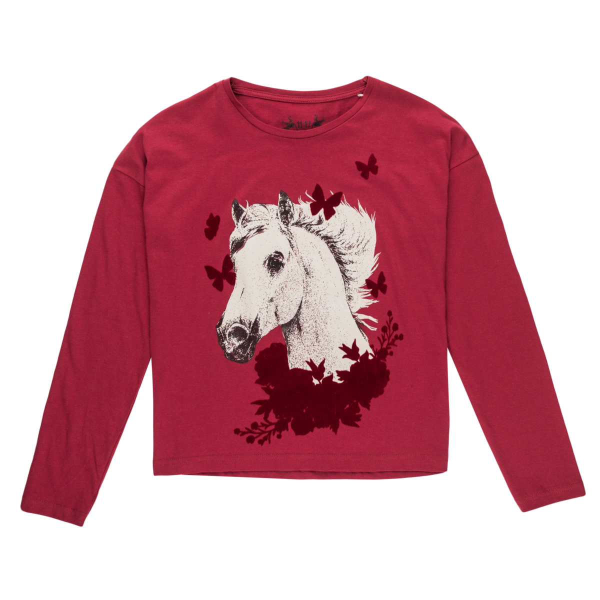 Dekliška majica, temno rdeča