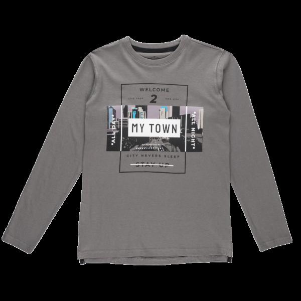 Fantovska majica, siva