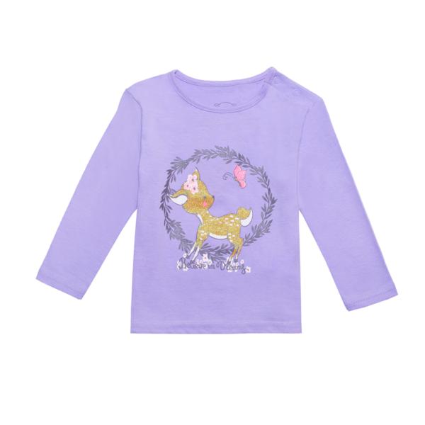Baby majica, svetlo vijolična