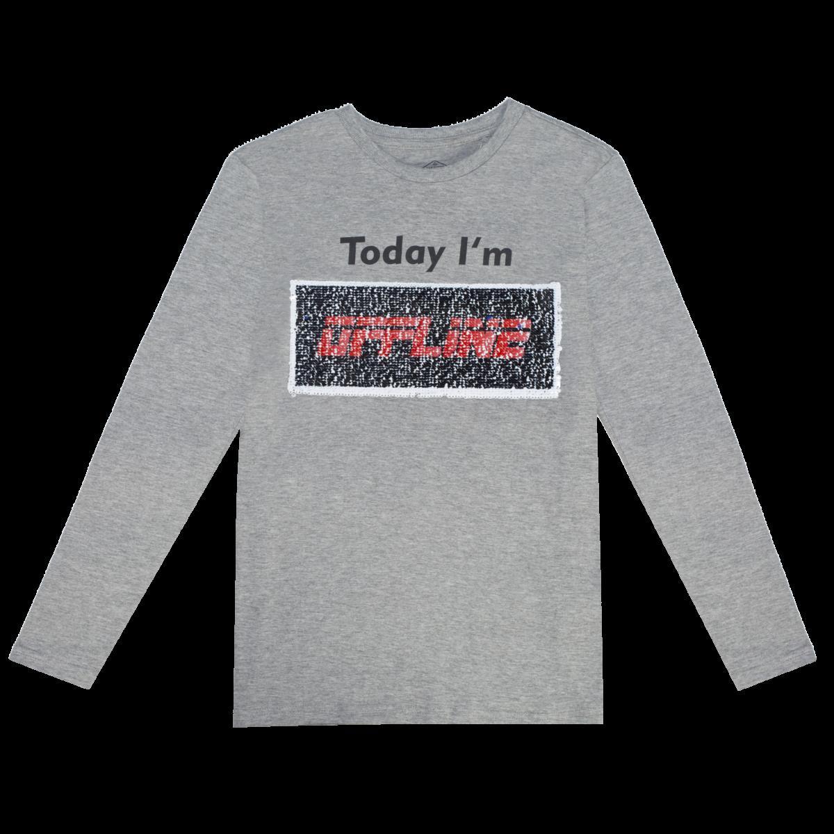 Fantovska majica, melange siva