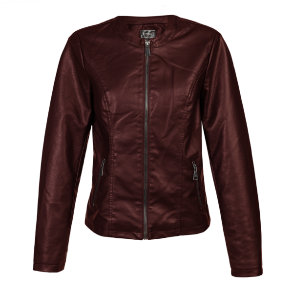 Ženska jakna, temno rdeča
