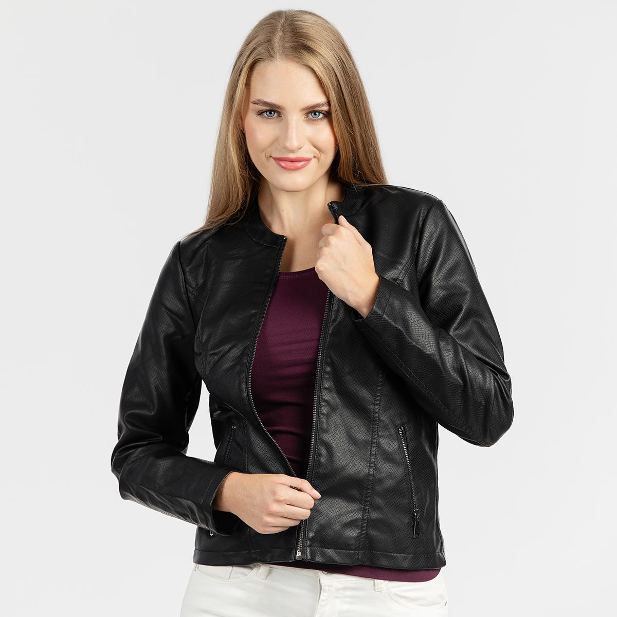 Ženska jakna, črna