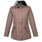 Ženska bunda, svetlo rjava
