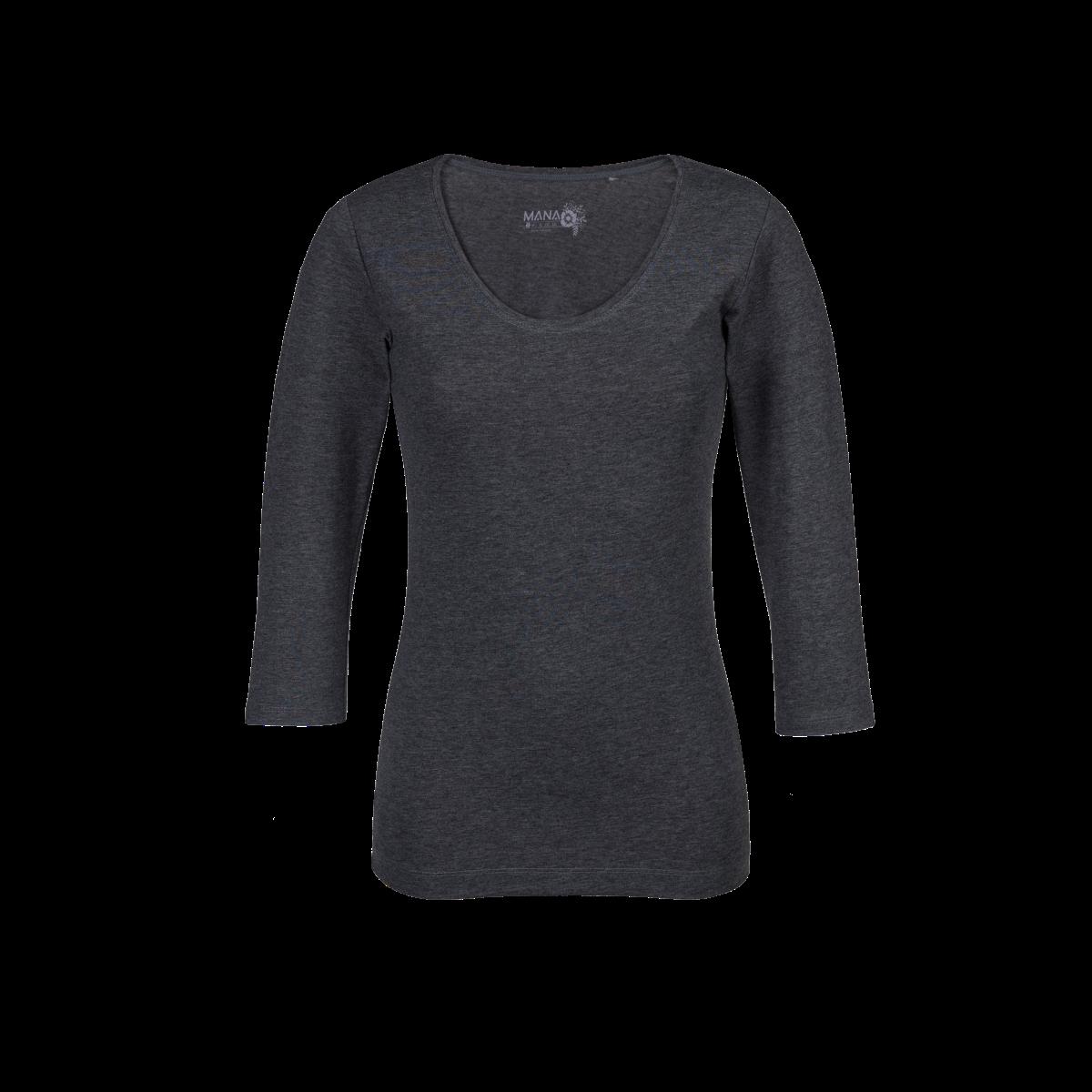 Ženska majica, temno melange siva