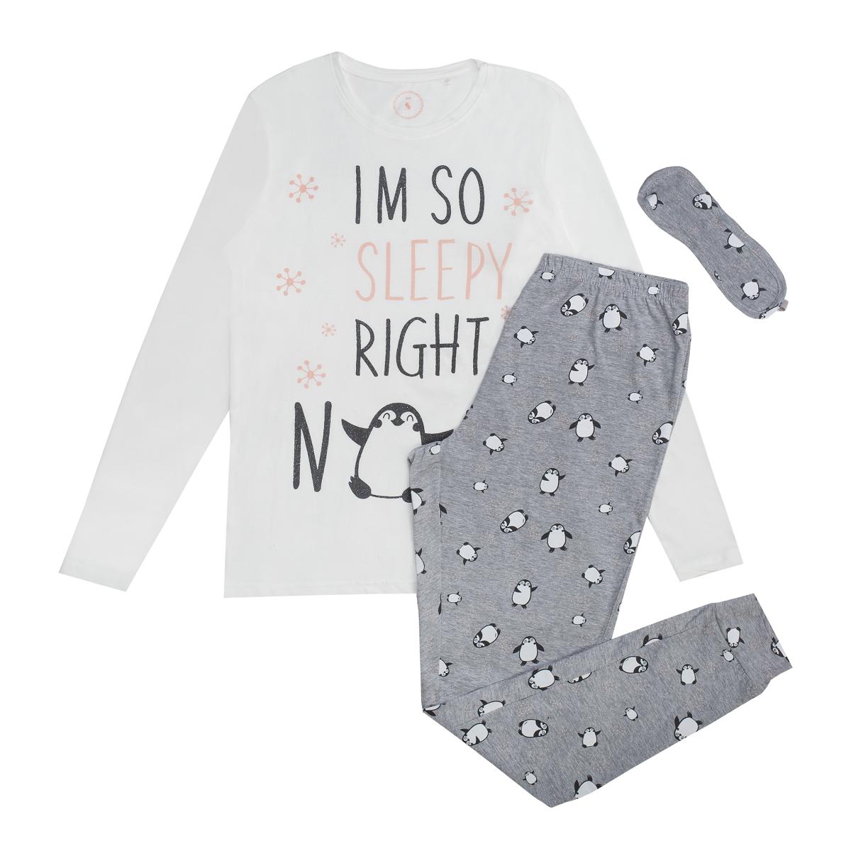 Ženska pižama, umazano bela