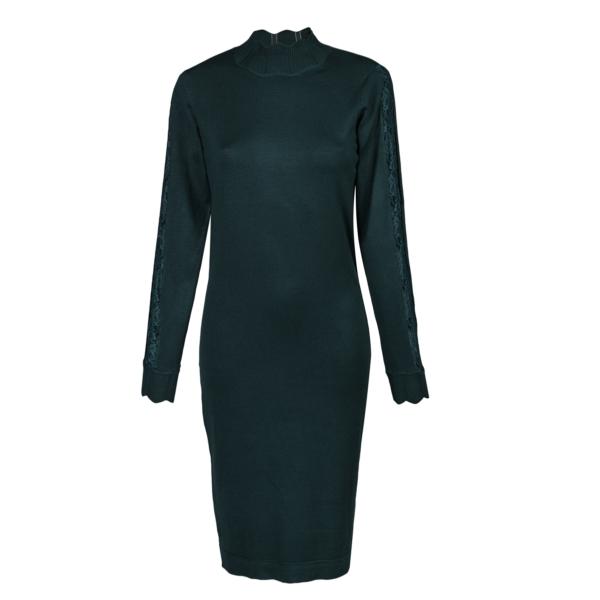 Ženska obleka, temno zelena