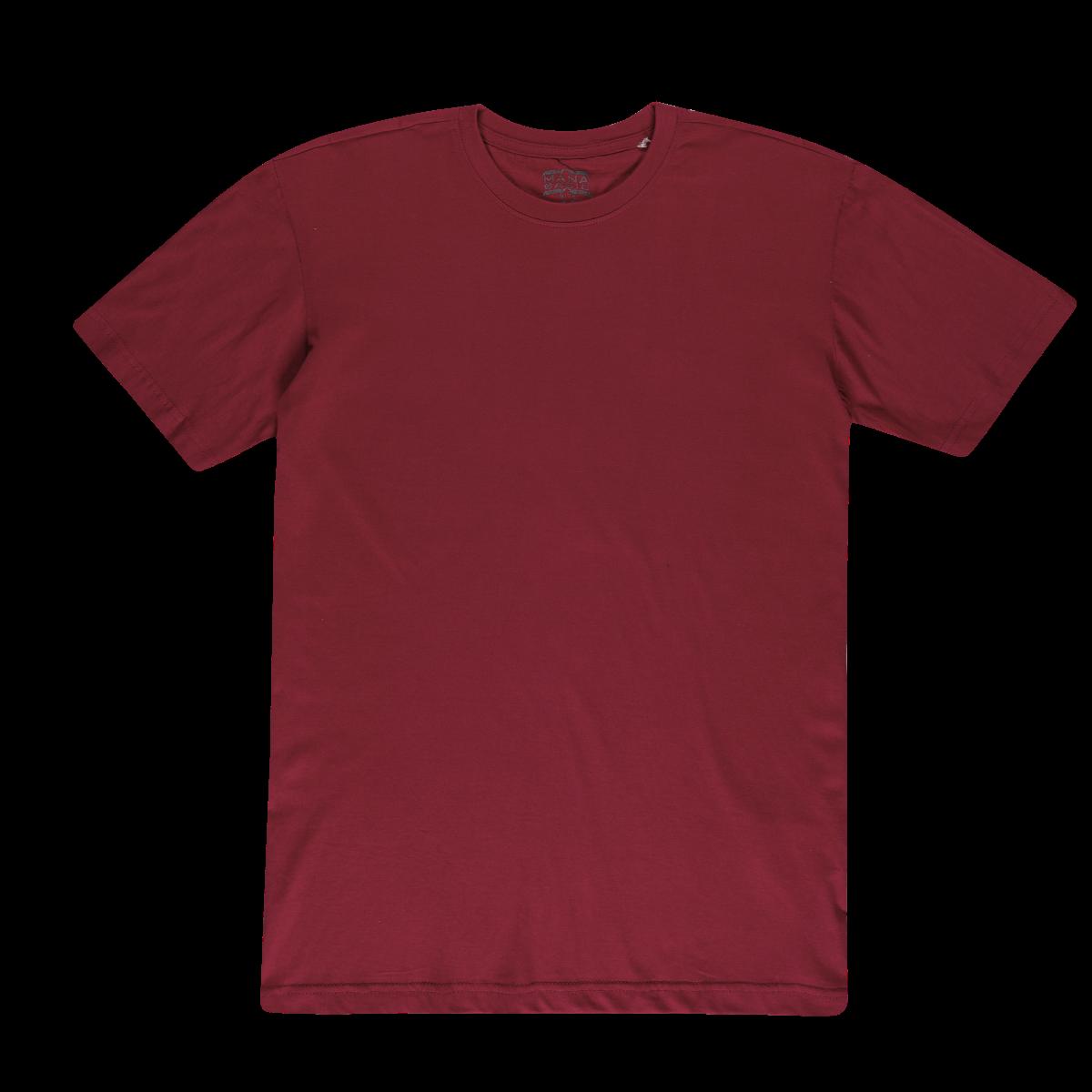Moška majica, temno rdeča
