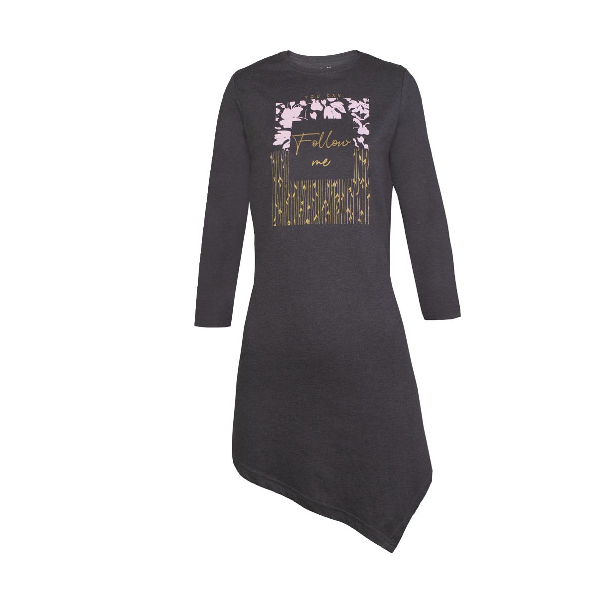 Ženska tunika, temno melange siva