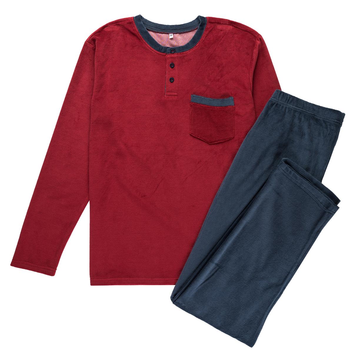 Moška pižama, temno rdeča