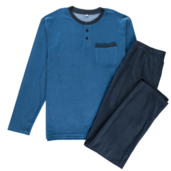 Moška pižama, modra