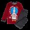 Fantovska pižama, temno rdeča