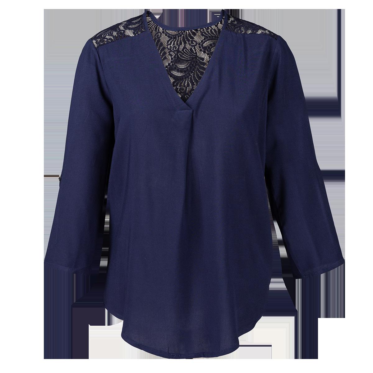 Ženska bluza, temno modra