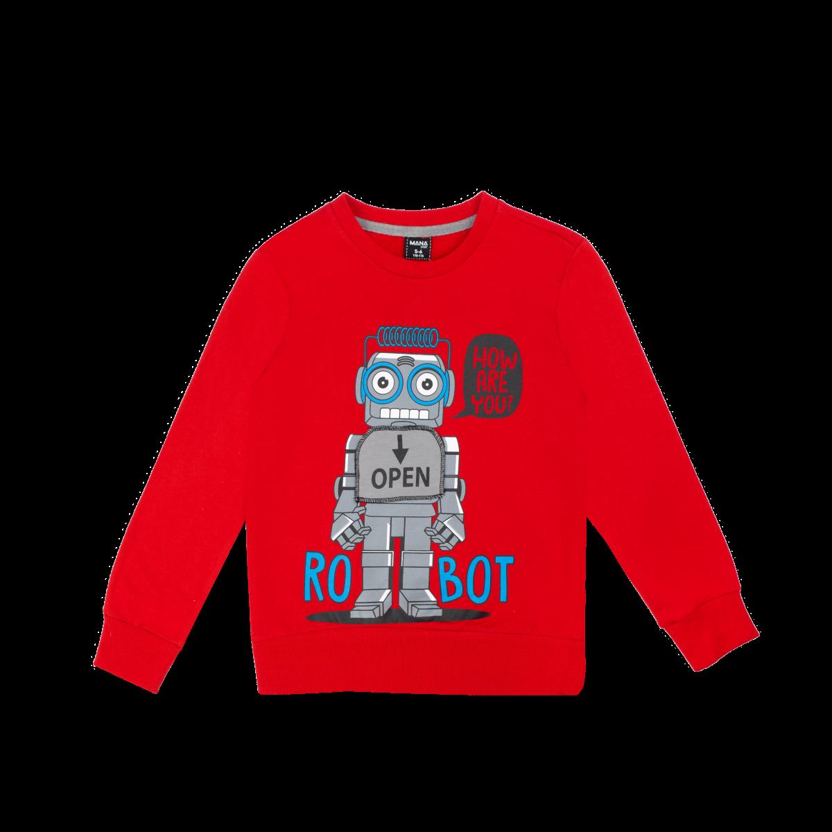 Fantovski pulover, rdeča