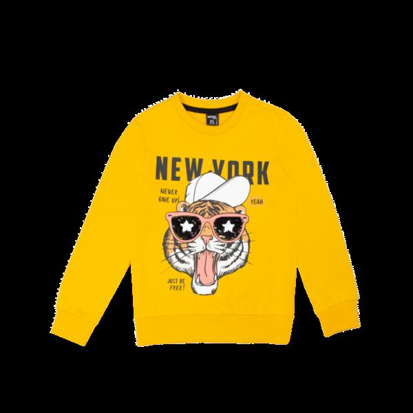 Fantovski pulover, temno rumena