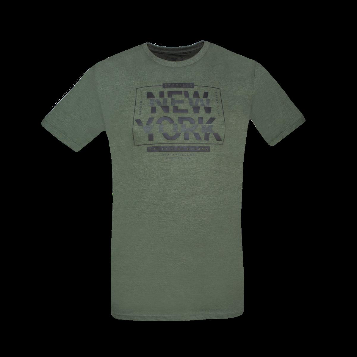 Moška majica, temno olivna