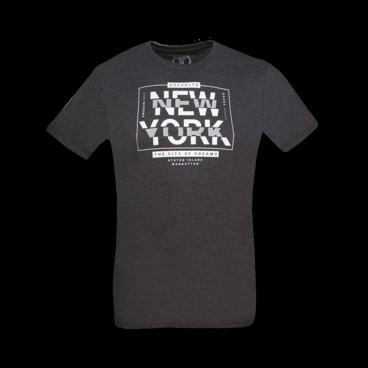 Moška majica, temno melange siva