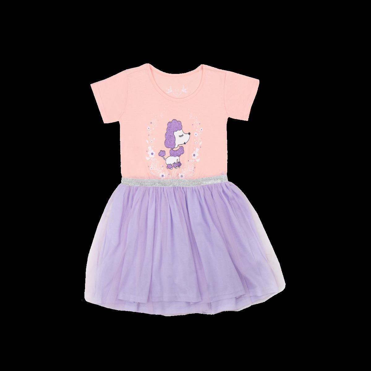 Dekliška obleka, svetlo vijolična