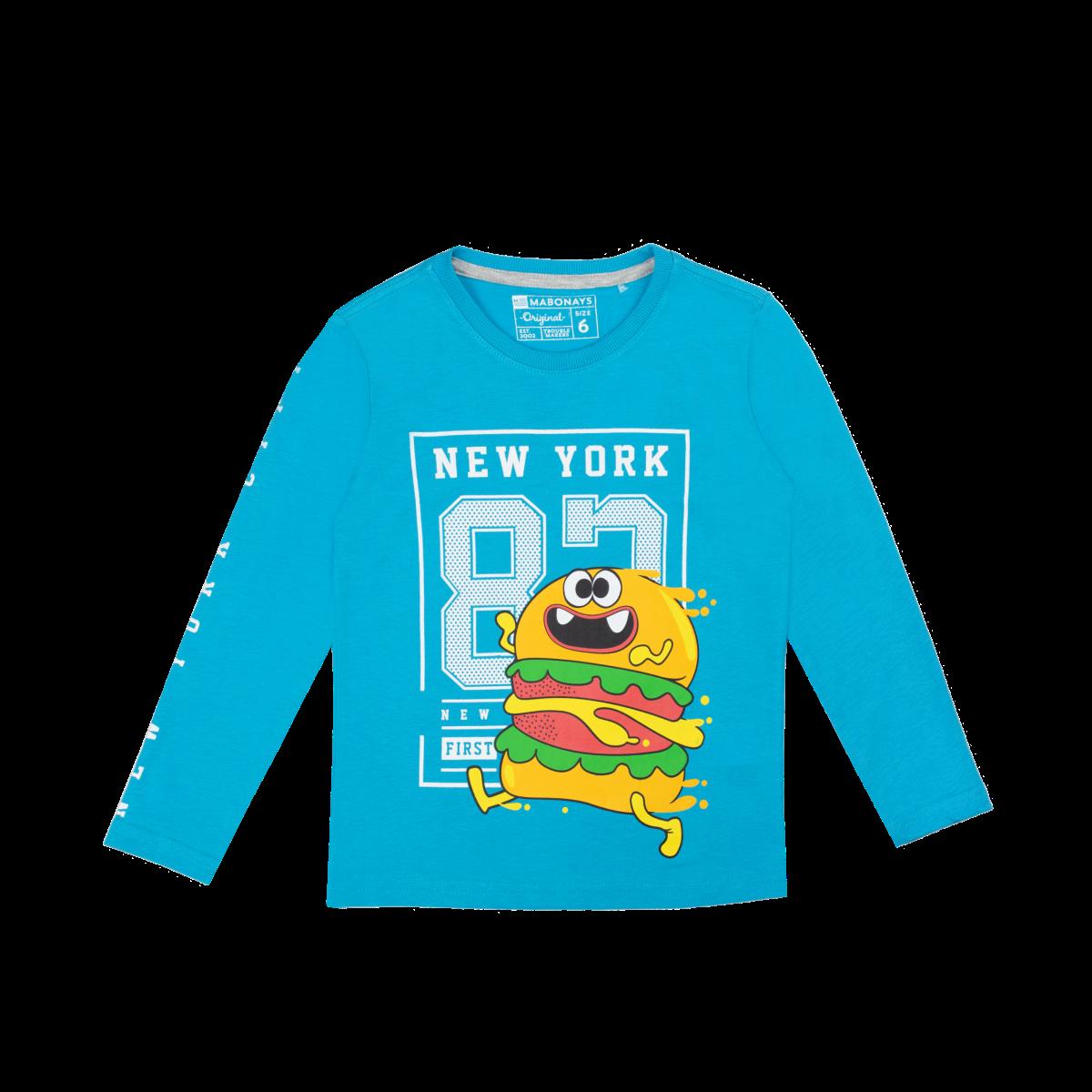 Fantovska majica, svetlo modra