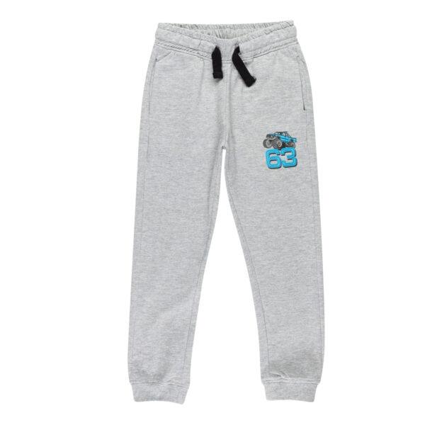 Fantovske hlače, melange siva