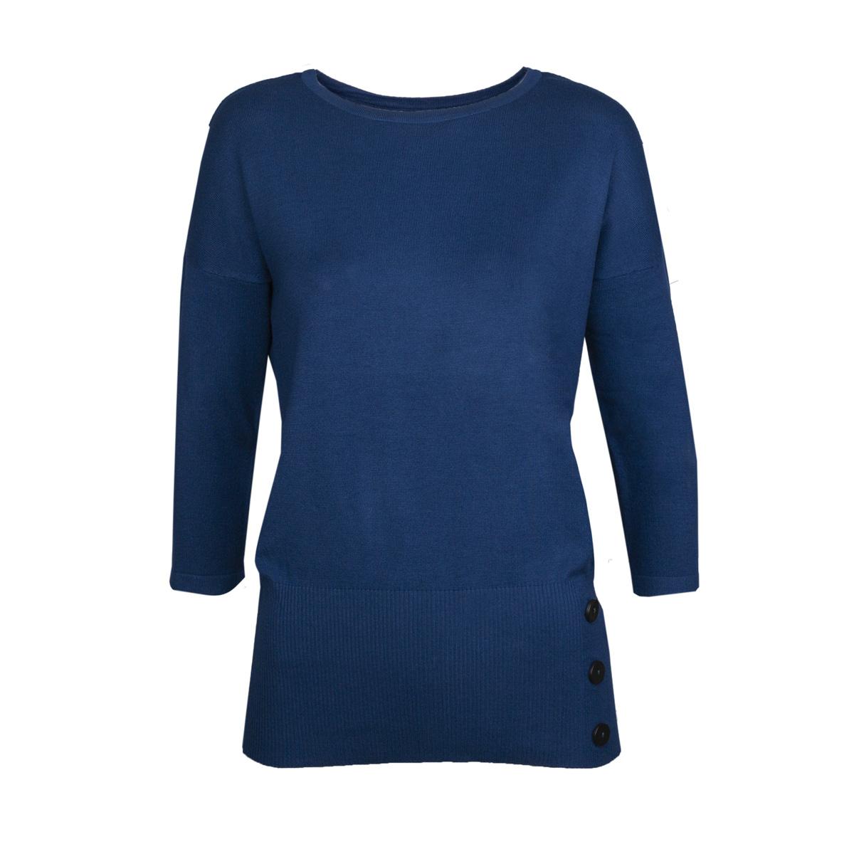 Ženski pulover, temno modra