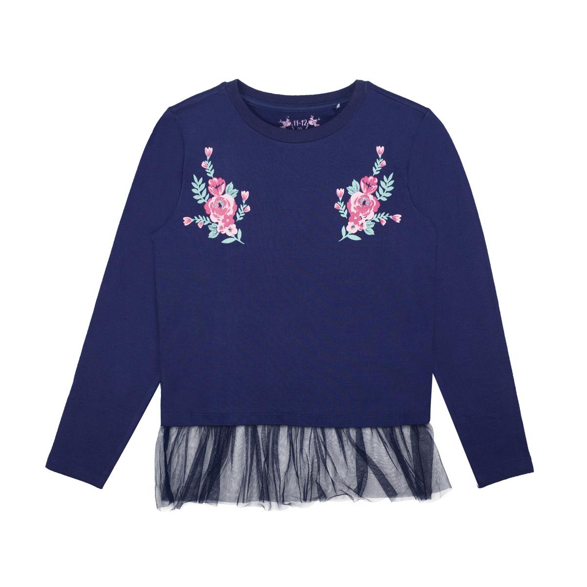 Dekliški pulover, temno modra