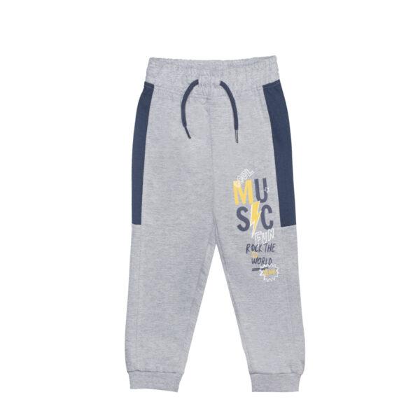 Baby hlače, melange siva