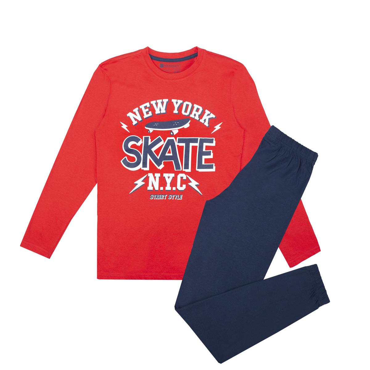 Fantovska pižama, rdeča