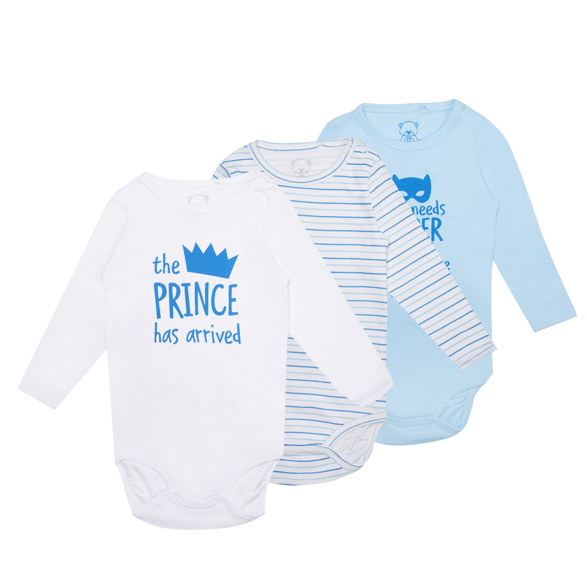 Baby bodi, svetlo modra