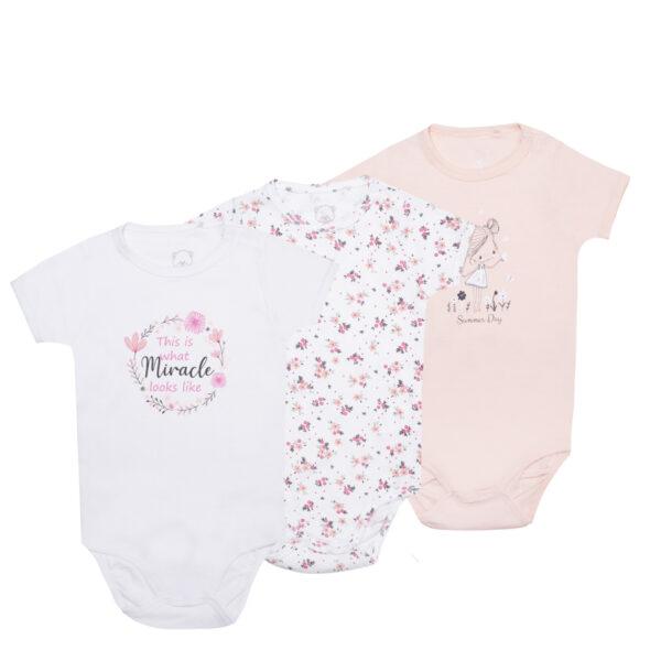 Baby bodi, svetlo roza