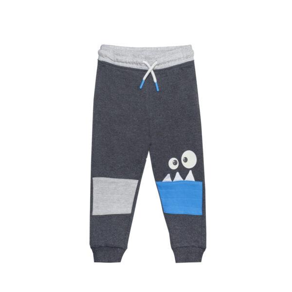 Baby hlače, temno melange siva