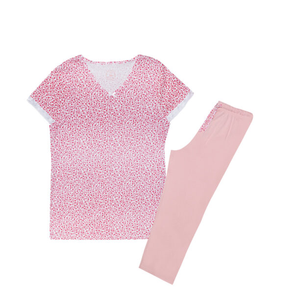 Ženska pižama, svetlo roza