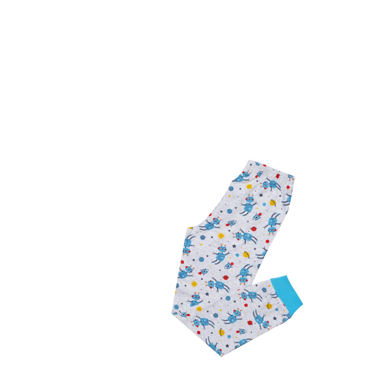 Fantovska pižama, melange siva