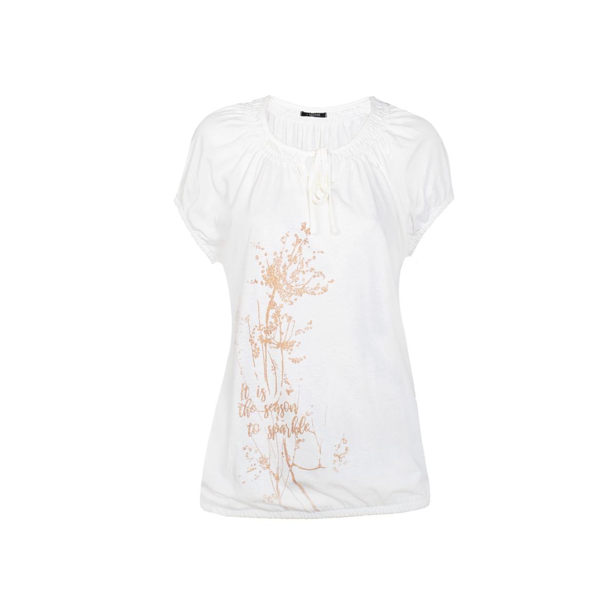 Ženska majica, umazano bela