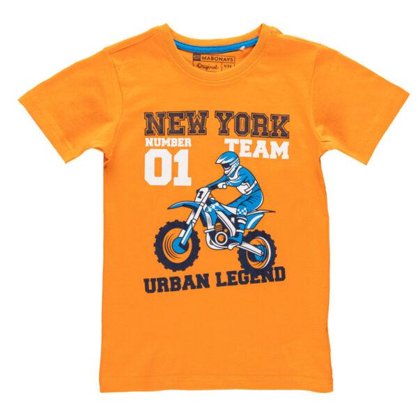 Fantovska majica, oranžna
